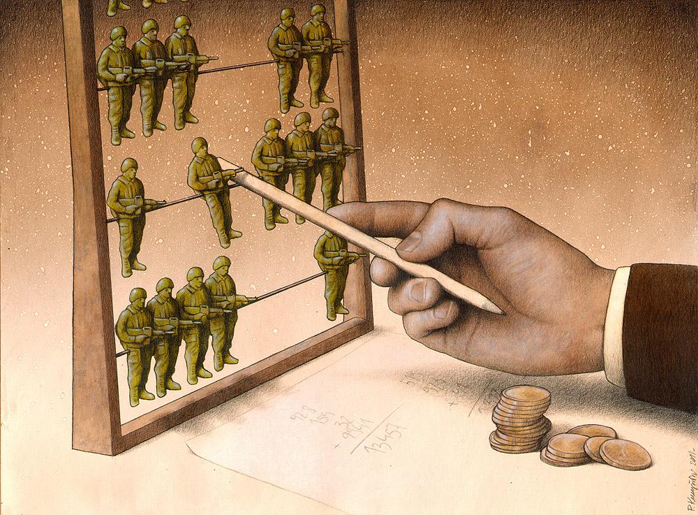 Chiến tranh chỉ là công cụ kiếm chắc của bàn tay nào đó