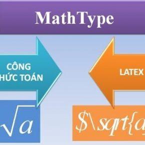 Bật tính năng đánh mã LaTeX trong MathType