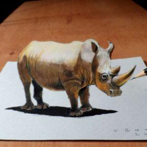 Nghệ thuật vẽ tranh 3D bằng bút chì
